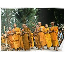 Buddhist Monks. Poster