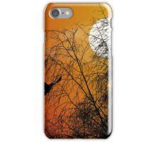 Bird Silhouette, Photoshop gradient, Brereton Country Park iPhone Case/Skin