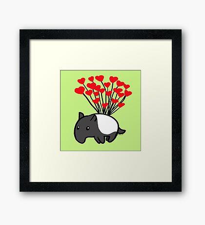Tapir Love Framed Print