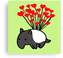 Tapir Love Canvas Print