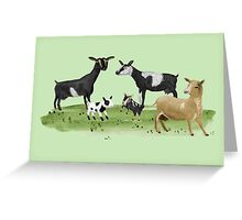Dairy Goats Greeting Card