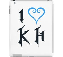 I Love Kingdom Hearts (Black) iPad Case/Skin