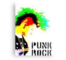Punk Rock Mohawk Metal Print