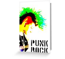 Punk Rock Mohawk Greeting Card