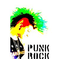 Punk Rock Mohawk Photographic Print