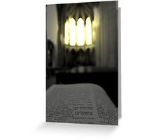 The light ... the hope Greeting Card