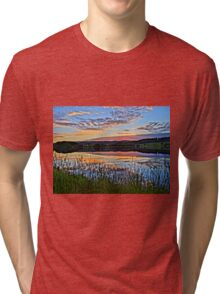 Lake with romantic sunset Tri-blend T-Shirt