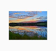 Lake with romantic sunset Unisex T-Shirt