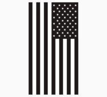 American Flag, In Mourning, America, Americana, Stars & Stripes, White on Black, PORTRAIT, USA Kids Clothes