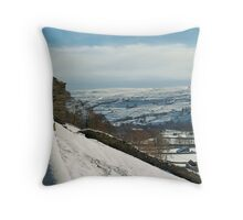 Of snow walls and ruined barns Throw Pillow