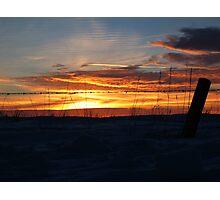 fenced sunset Photographic Print