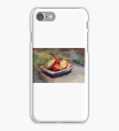 Pears in Wooden Bowl iPhone Case/Skin