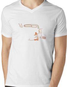 Orange knots Mens V-Neck T-Shirt