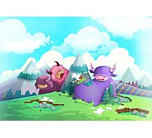 Cute monsters in the nature Photographic Print