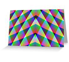 Triangular  Rainbow Greeting Card