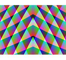 Triangular  Rainbow Photographic Print