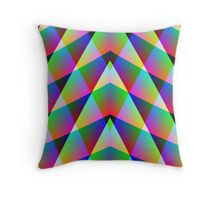 Triangular  Rainbow Throw Pillow