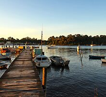 Peaceful Evening, Strahan  by bevanimage