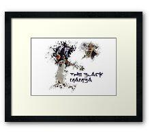 Kobe - The Black Mamba Framed Print