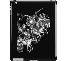 Durer, Four Horsemen of the Apocalypse, Revenge, Biblical, Prophesy, White on Black iPad Case/Skin