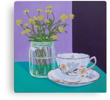 Water Meadow, Butter cup floral Canvas Print