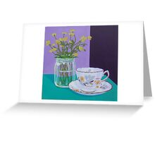 Water Meadow, Butter cup floral Greeting Card