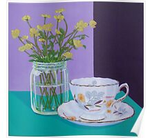 Water Meadow, Butter cup floral Poster