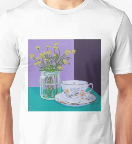 Water Meadow, Butter cup floral Unisex T-Shirt