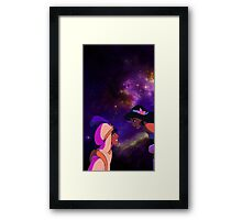 Aladdin and Jasmine Galaxy Framed Print