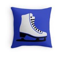 Figure skating skate Throw Pillow