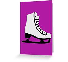 Figure skating skate Greeting Card