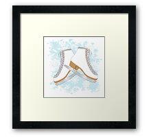 Ice skates Framed Print