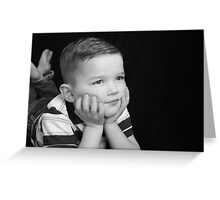 Lane's four year portrait-1 Greeting Card