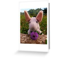 Eeyore with Thistle Greeting Card