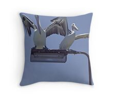 Too crowded. Throw Pillow