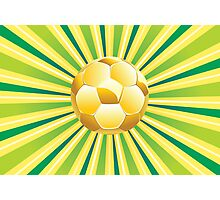 Soccer Ball on Green Background 2 Photographic Print