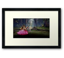 If tears could build a stairway Framed Print