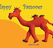Passover Camel Greeting Card by curlyorli
