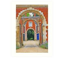 Red Brick Arches - English Countryside Art Print