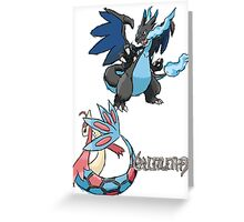 Kelly's Mega Charizard X & Milotic Greeting Card