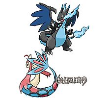 Kelly's Mega Charizard X & Milotic Photographic Print