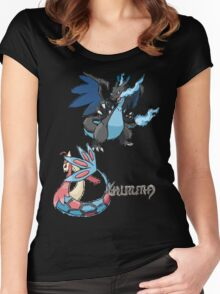 Kelly's Mega Charizard X & Milotic Women's Fitted Scoop T-Shirt
