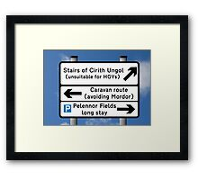 Stairs of Cirith Ungol Framed Print