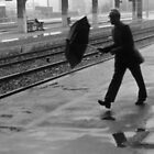 Wet and windy at Sete station by Paul Pasco