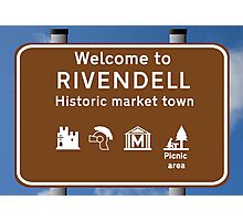 Welcome to Rivendell Photographic Print