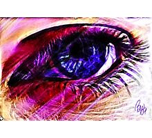 Eye of Spirit Purple  Photographic Print