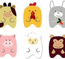 Cute animals by amekamura