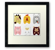 Cute animals Framed Print
