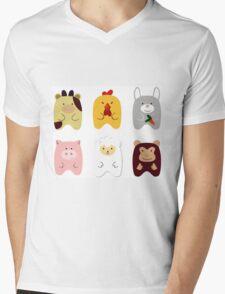 Cute animals Mens V-Neck T-Shirt