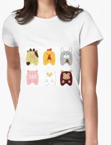 Cute animals Womens Fitted T-Shirt